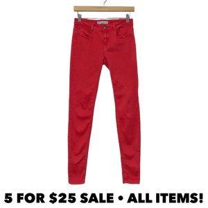 Zara Red Super Skinny Jeans